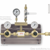 Газовая рампа Ibeda для кислорода и технических газов с пневматическим переключателем и блоком сигнализации