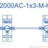 Газовая рампа Spectron серия BT2000 AC для ацетилена (1,5 бар), пример, схема