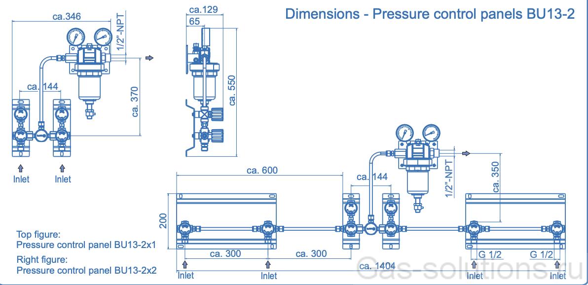 Газовая рампа Spectron серия BU13-1:-2, чертеж2
