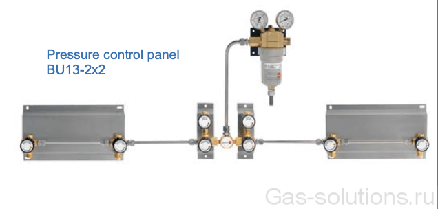 Газовая рампа Spectron серия BU13-2 с блоками расширения