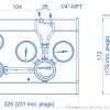 Газовая рампа Spectron серия BE55-1_чертеж
