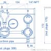 Газовая рампа Spectron серия BE55-2_чертеж