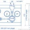 Газовая рампа Spectron серия BE56-1_чертеж