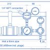 Газовая рампа Spectron серия BE56-2U_чертеж