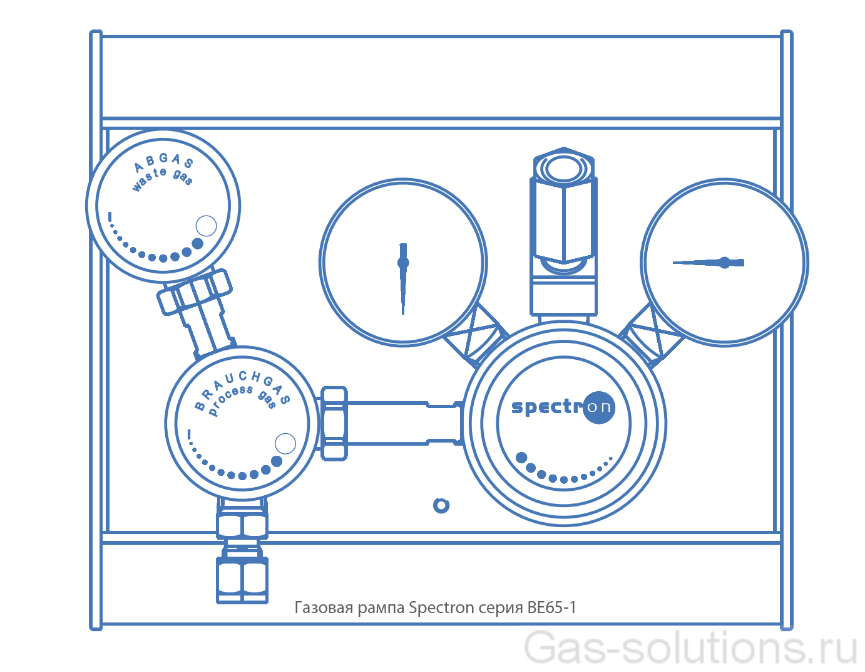 Газовая рампа Spectron серия BE65-1_чертеж1