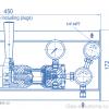 Газовая рампа Spectron серия BE65-2U_чертеж