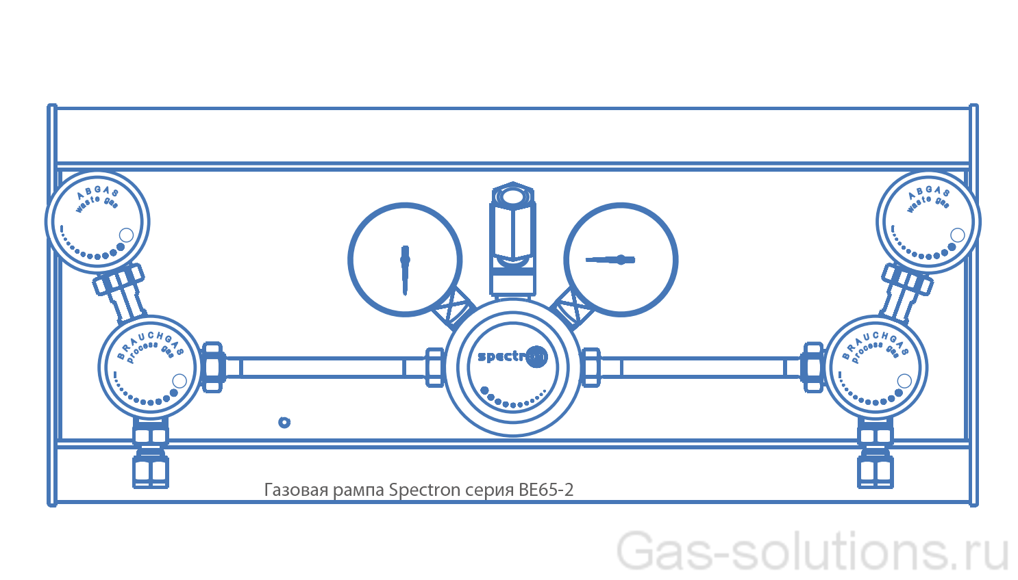 Газовая рампа Spectron серия BE65-2_чертеж1