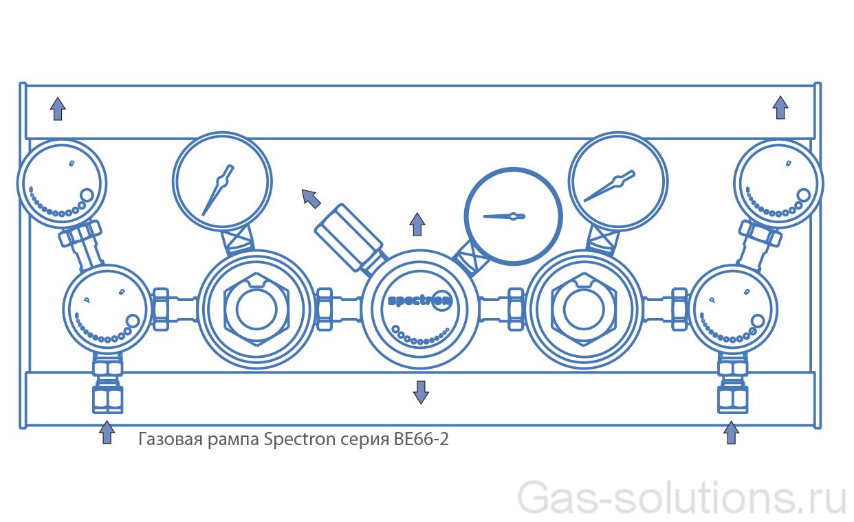 Газовая рампа Spectron серия BE66-2_чертеж1