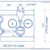 Газовая рампа Spectron серия BM55-1_чертеж