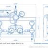 Газовая рампа Spectron серия BM55-2A_чертеж