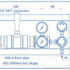 Газовая рампа Spectron серия BM55-2U_чертеж