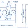 Газовая рампа Spectron серия BM56-1_чертеж