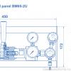 Газовая рампа Spectron серия BM65- 2U_чертеж