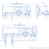 Газовая рампа Spectron серия BM65-AC для ацетилена (1,5 бар)_чертеж