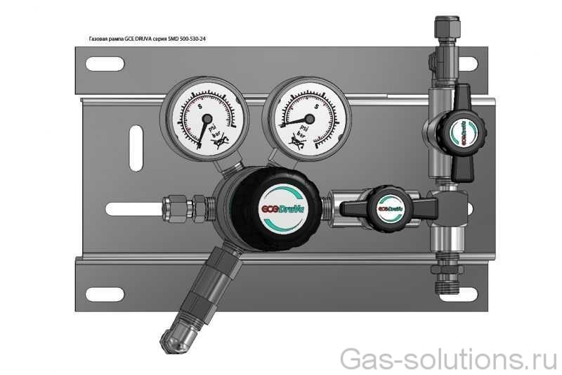 Газовая рампа GCE DRUVA серия SMD 500-530-24