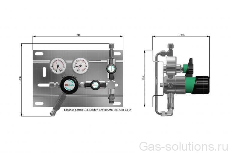 Газовая рампа GCE DRUVA серия SMD 500-530-24_2