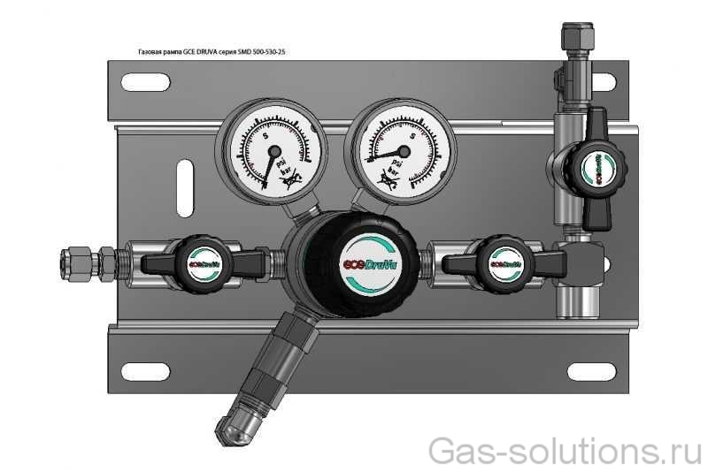 Газовая рампа GCE DRUVA серия SMD 500-530-25