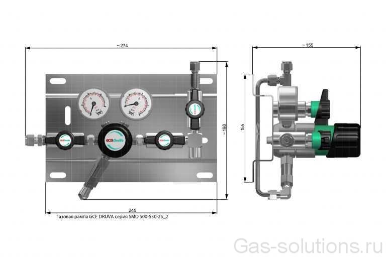 Газовая рампа GCE DRUVA серия SMD 500-530-25_2