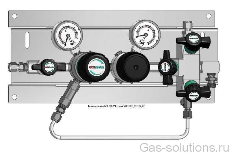 Газовая рампа GCE DRUVA серия SMD 502_532-26_27