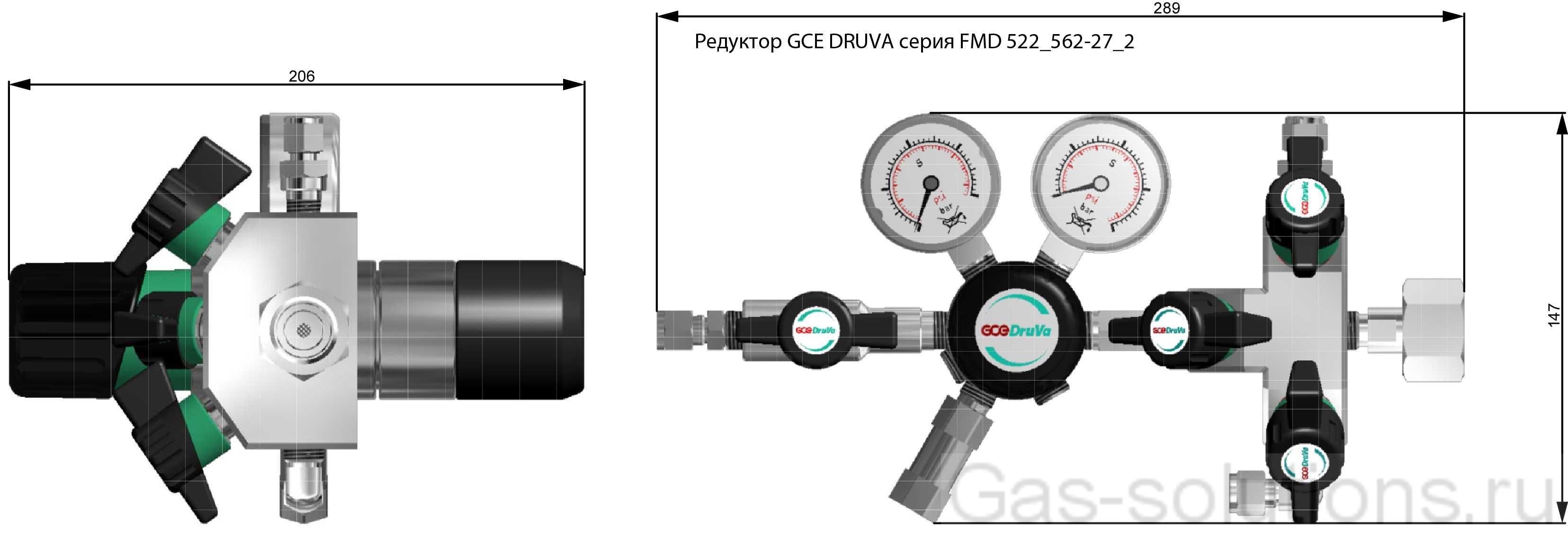 Редуктор GCE DRUVA серия FMD 522_562-27_2