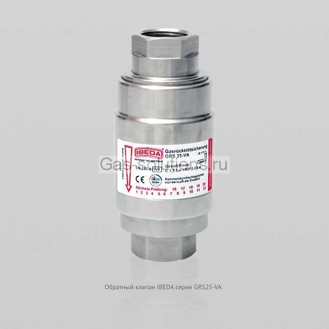 Обратный клапан IBEDA серии GRS25-VA