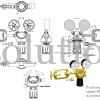 Редуктор Cavagna серии 6000D Acetylene Yoke_чертеж