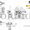 Редуктор Cavagna серии 6000D Ar_CO2 с расходомером_чертеж_3