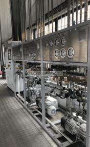 Блок автоматического управления наполнения баллонов с вакуумными насосами