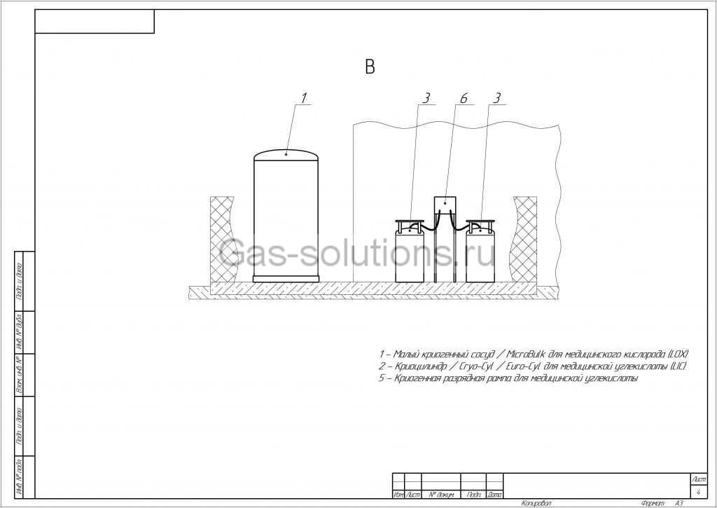 Комплекс газоснабжения медицинских учреждений_Вид справа