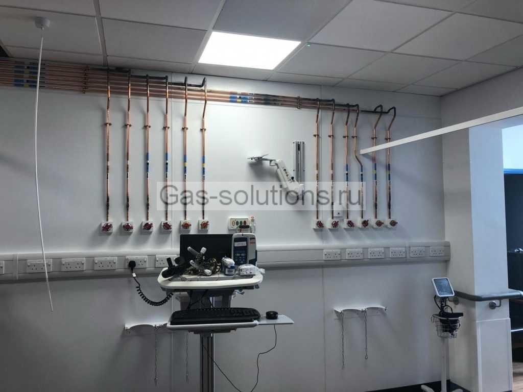 Медицинские газовые розетки для подключения приборов