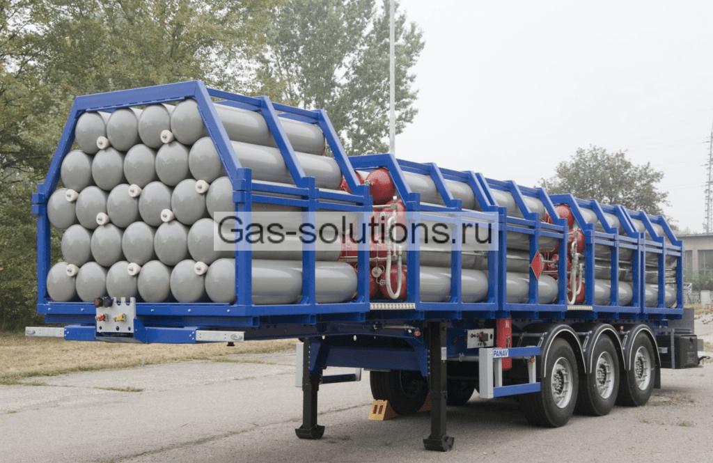 Полуприцеп для доставки газообразного азота