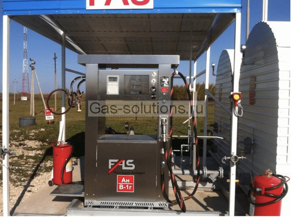 Пример комплексного решения: подача газообразного пропана и наполнение баллонов от ФасХимМаш