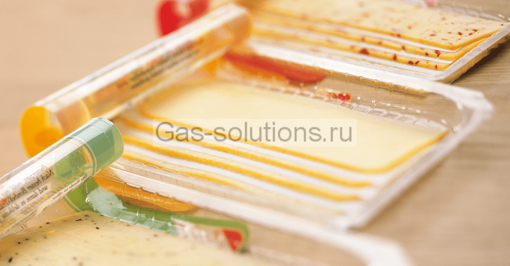 Сыр в упаковке с МГС