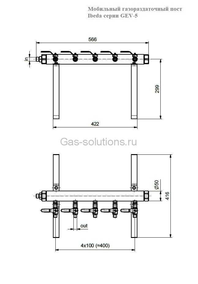 Мобильный газораздаточный пост Ibeda серии GEV-5-чертеж-1