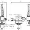 Редуктор Ibeda серии EDF-H - чертеж
