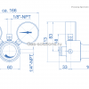 Редуктор Spectrotec серии BT61 AC_чертеж