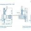 Редуктор Spectrotec серии ET65-BV AC - чертеж