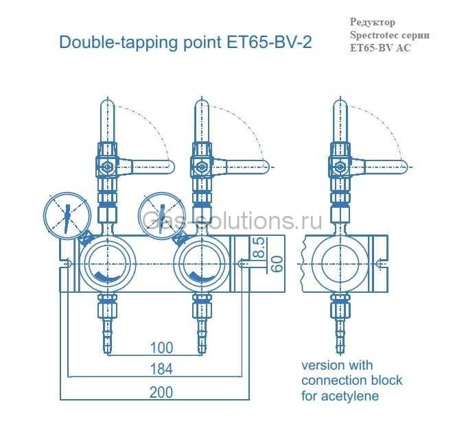 Редуктор Spectrotec серии ET65-BV AC- чертеж_1