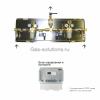 Газовая рампа WITT серия 386NGA для ацетилена
