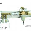 Газовая рампа WITT серия 386NPL для ацетилена
