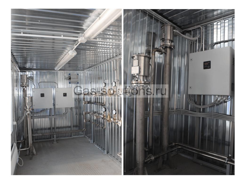 Система контроля и управления температурой и давлением газов